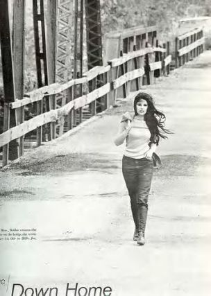 Bobbie Gentry crossing the Tallahatchie Bridge. Photo from Life Magazine, November, 1967.